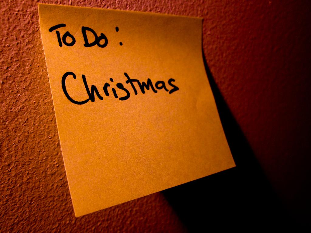 Weihnachtliche Checkliste