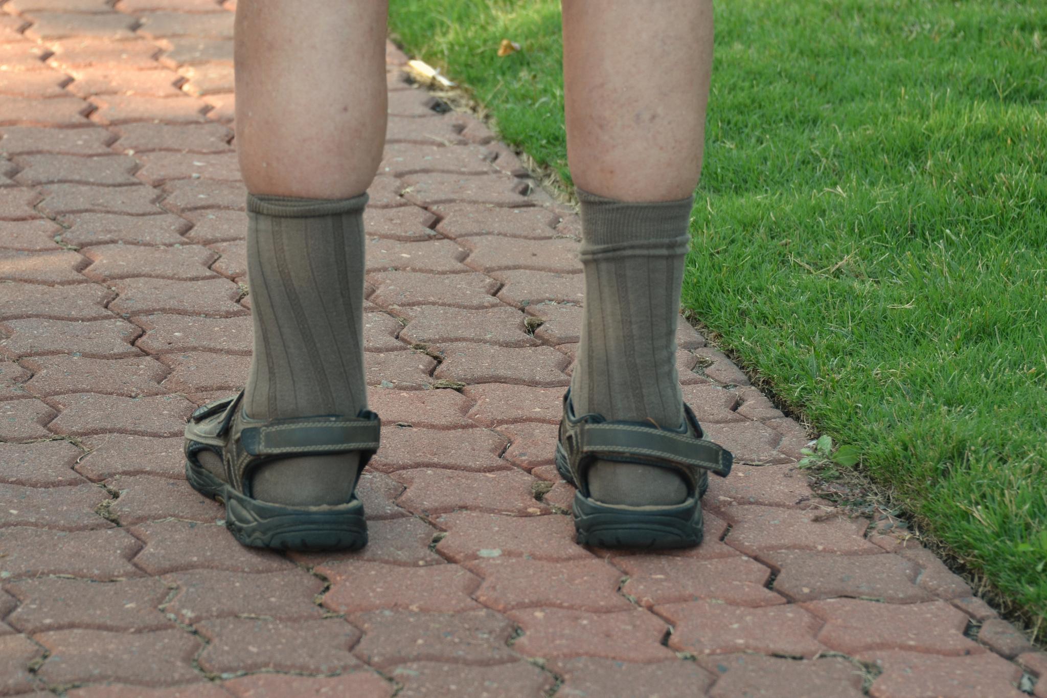Herren Sandalen - Der Horror auf Socken