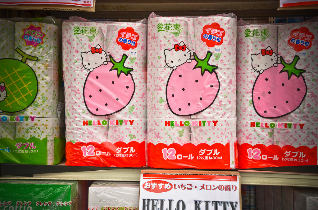 Verrückte Geschenkideen aus Japan | Hello Kitty Toilettenpapier